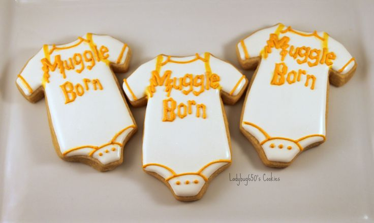 harry potter themed baby shower cookies