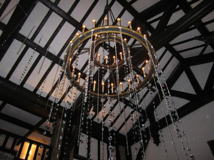 chandelier garland | Wedding Design & Decor | Pinterest
