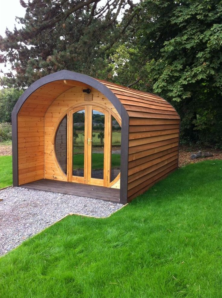 5 meter camping pod glamping pod garden office for Garden huts for sale