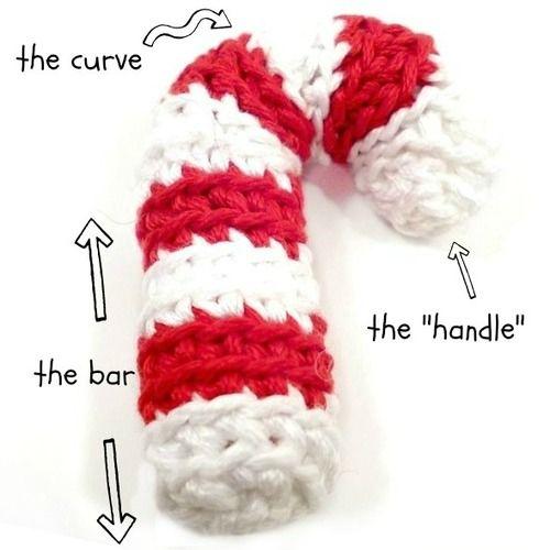Crochet candy cane tutorial crochet pinterest