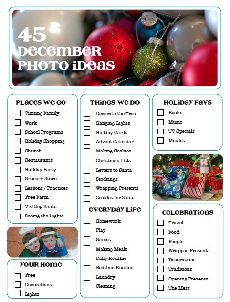 45 December Photos Ideas | http://scrapinspired.com/2013/10/45-december-photo-ideas/ #DecemberDaily #scrapbooking