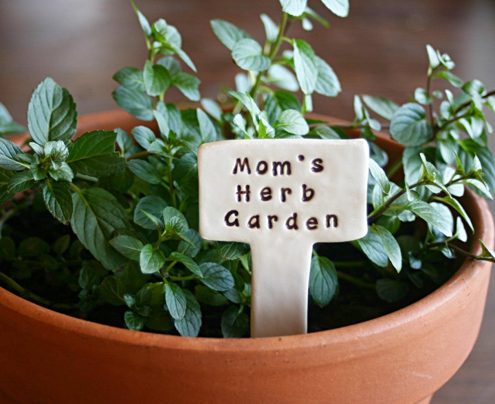 herb garden custom personalized little sign marker stake for garden