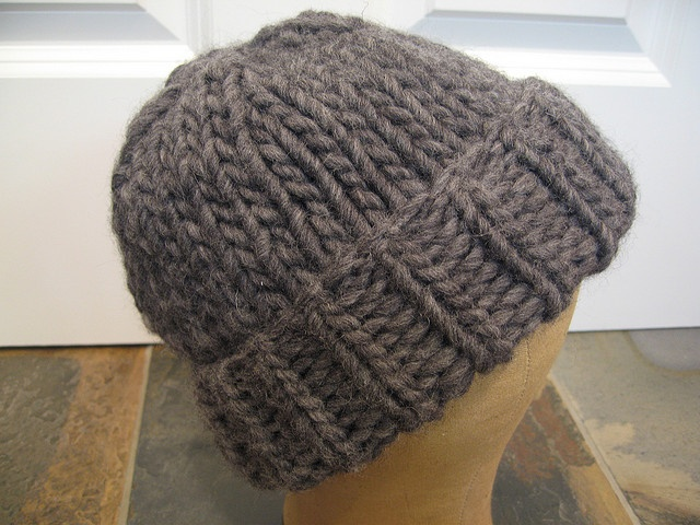 bulky hat (15mm needles) [Tutorials & Patterns] Knitting ...
