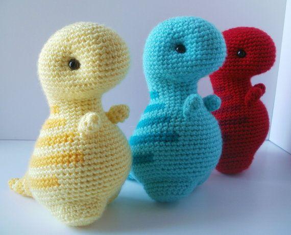 Free Crochet Pattern Dinosaur Slippers : Crochet Pattern: Timothy the T-Rex