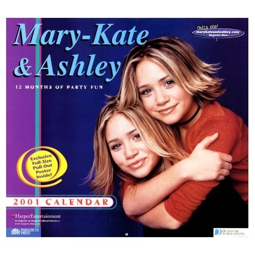 ... and ashley collection mary kate and ashley 12 month wall calendar 2001
