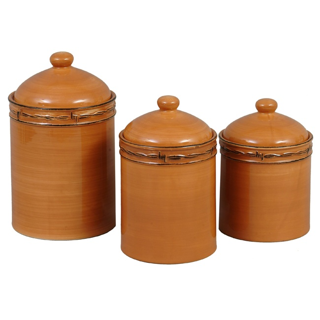 Rustic ranch canister set 3 pcs for the home pinterest - Rustic kitchen sets ...