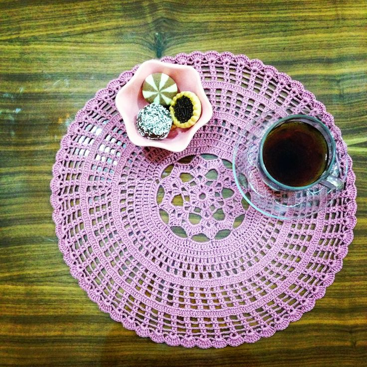Crocheting Placemats : crochet placemat Crochet Coasters/Placemats Pinterest