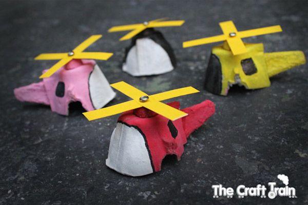 Craft Egg-Carton Helicopter