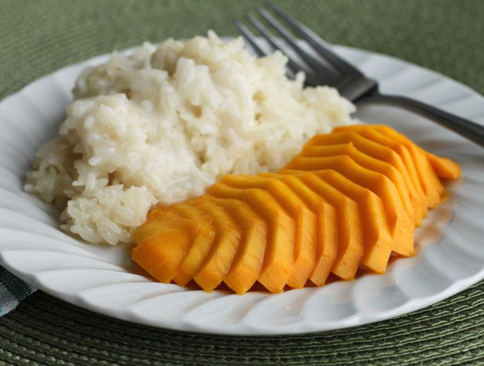 Mango with Coconut Sticky Rice from Scientifically Sweet http://www ...