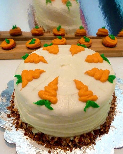 Easter Carrot Cake Decorating Ideas : Carrot Cake - So pretty! Bake-n-Cake Pinterest