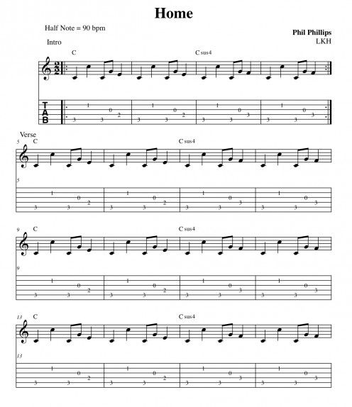 Home Phillip Phillips Chords and Lyrics for Guitar