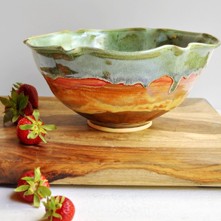 Flower Bowl from Lee Wolfe Pottery- back in stock