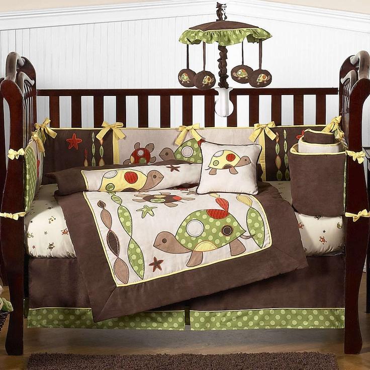 Crib  Piece Bedding Set Turtles