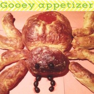 spider bread appetizer | halloween | Pinterest