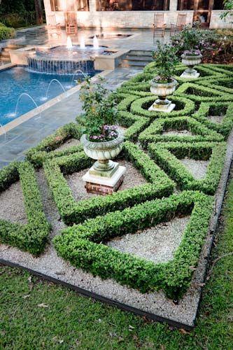 french parterre garden design Formal landscaping ideas