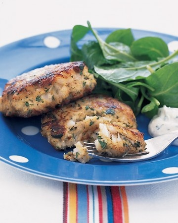 New England Fish Cakes With Herbed Tartar Sauce Recipe — Dishmaps