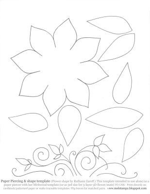 Cake Decorating Flower Templates : Flower template Cake decorating Pinterest