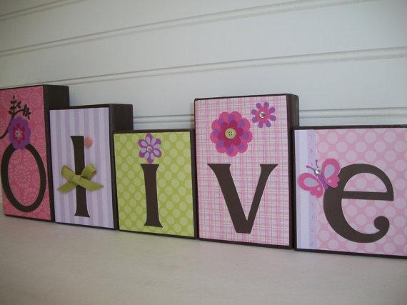 Letter Blocks for Children by RessieLillian on Etsy, $7.00