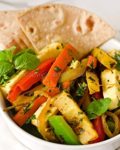 Quick Paneer-Mint-Vegetable Sauté | Dinner | Pinterest