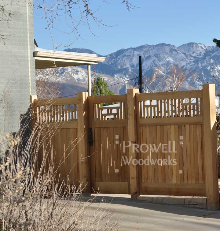Craftsman Style Privacy Fence Fence Ideas Pinterest