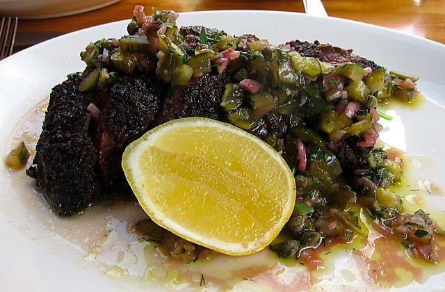 steak coriander crusted hanger steak hanger steak with spicy cumin ...