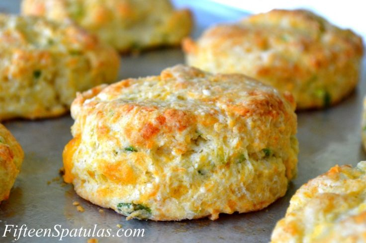 Cheddar Scallion Biscuits (and how to make biscuits fluffy)