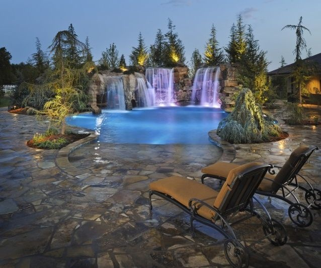pool caviness landscape dream homes cabins cottages