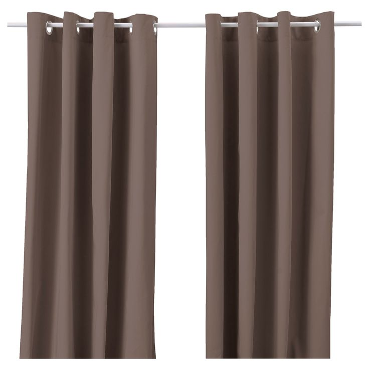 MERETE Curtains, 1 pair - brown - IKEA | Boy nursery... | Pinterest