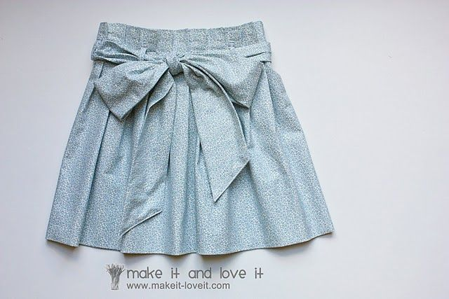 Paper bag skirt tutorial from Make it and love it