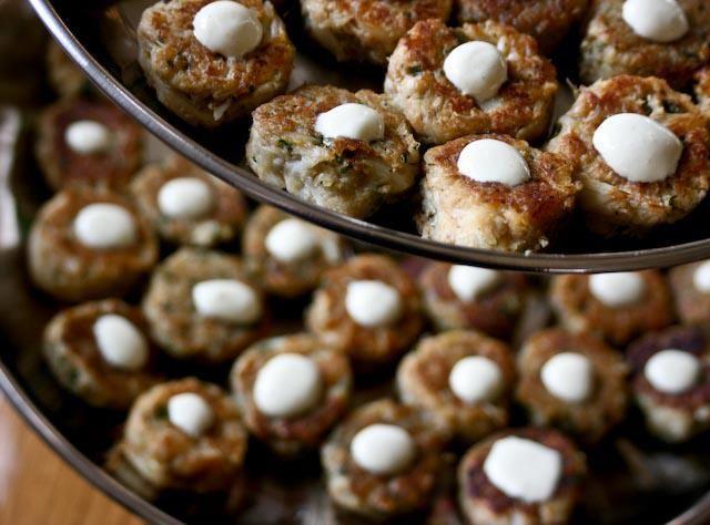 Petite Crab Cakes, Meyer Lemon Aioli | Food | Pinterest
