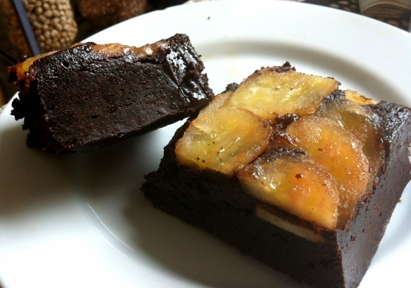 Peanut Butter Banana Brulee Brownies - oh no.