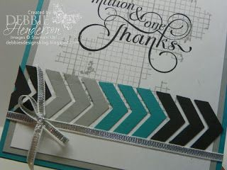 Chevron border punch idea - use the punched-out pieces