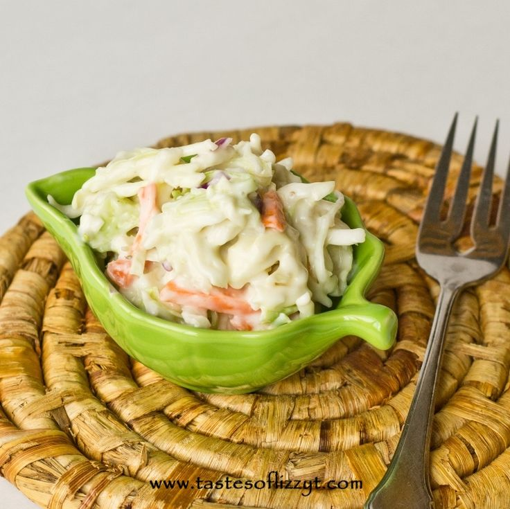 Creamy Coleslaw - Tastes of Lizzy T's