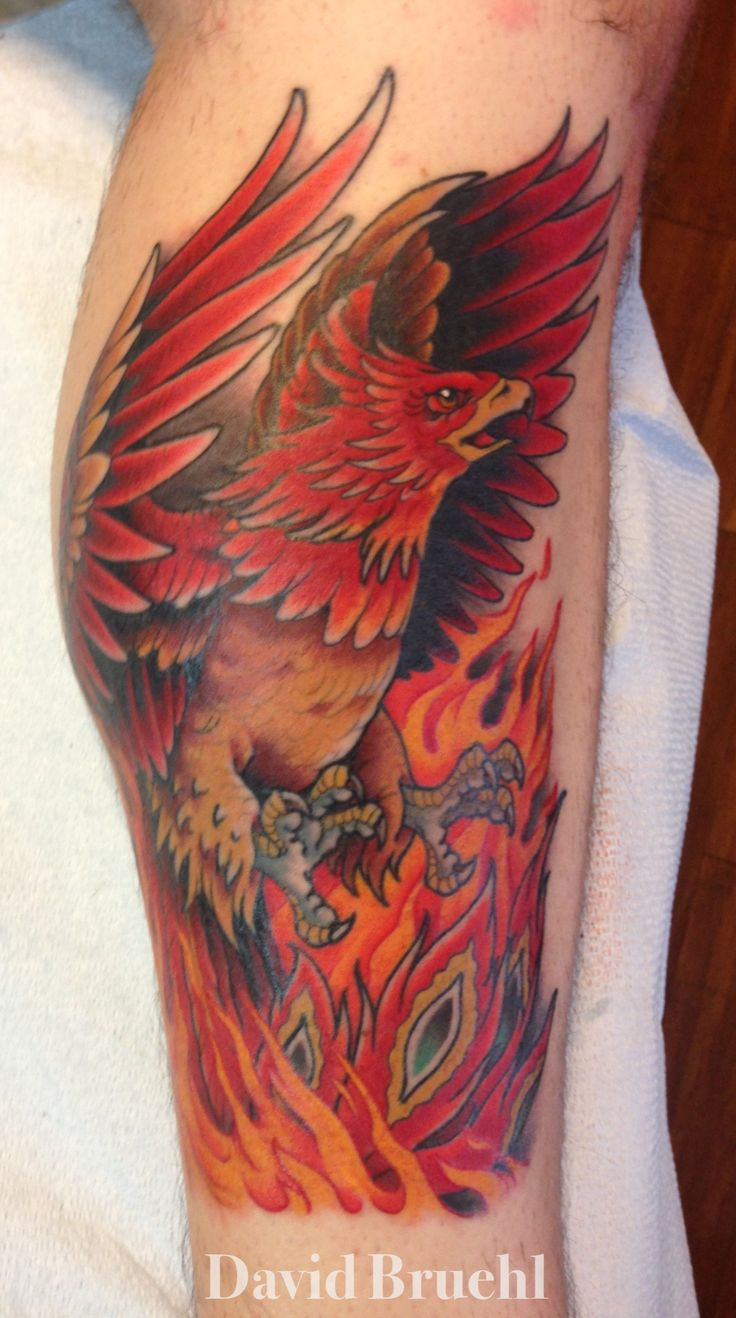 Phoenix Rising Tattoos From Flames