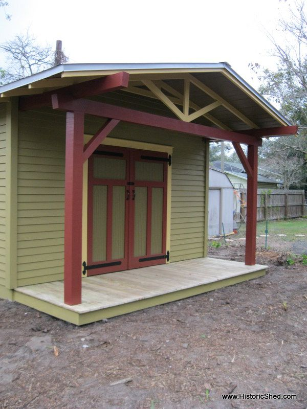 Bungalow Shed Porch Garages And Sheds Pinterest