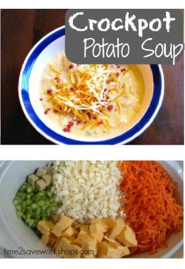 Crockpot Potato Soup Recipe (Cheesy & EASY)