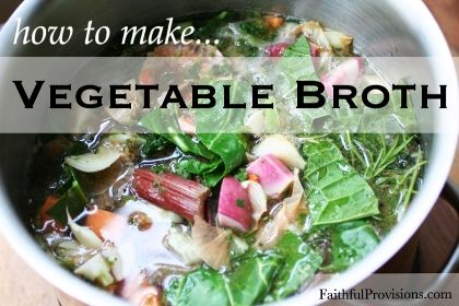 How to Make Vegetable Broth | Recipe