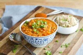 coconut curry red lentil soup | EATS | Pinterest