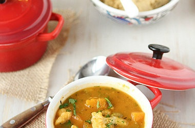 Winter Vegetable Soup with Butternut Squash and Cauliflower ...