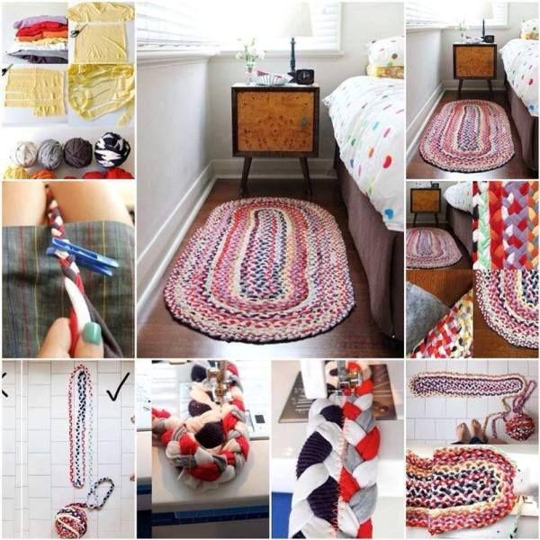 Recycled T-Shirt Crochet Rug   Crochet-sew ideas   Pinterest