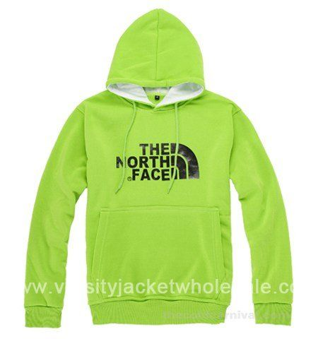 Mens The North Face Pullover Hoodie The Pale Green/Black The North