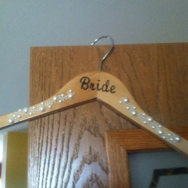 DIY Bride Hanger!