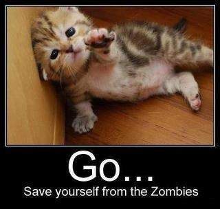 Get away from the zombies!! You run!! lol