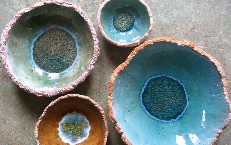 Sustainable art from local clay. Pretty...