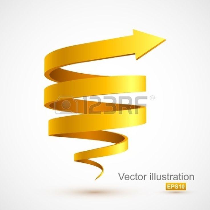 Yellow spiral arrow 3D Stock Vector | Education | Pinterest: pinterest.com/pin/197876977353176116