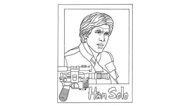 han solo coloring pages - photo#19