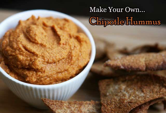 Spicy chipotle hummus. Make your own! http://www.cheaprecipeblog.com ...