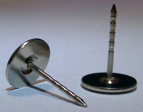 25 Decorative Nail Tack Flat Head Push Pins Fabric Cover Button 16 x ...