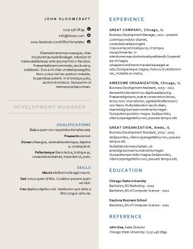 Free resume docx