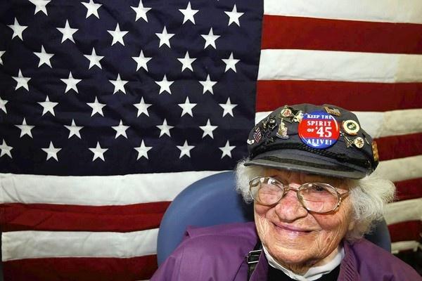 Oldest female WWII vet in California. :)